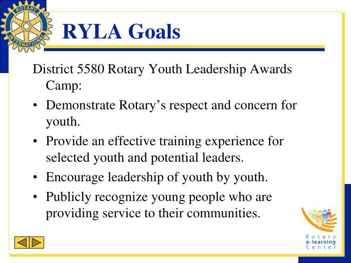 RYLA Goals