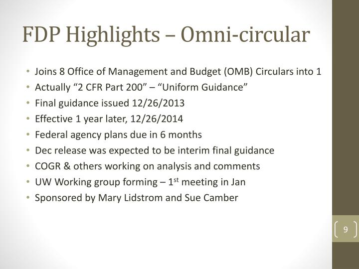 FDP Highlights – Omni-circular