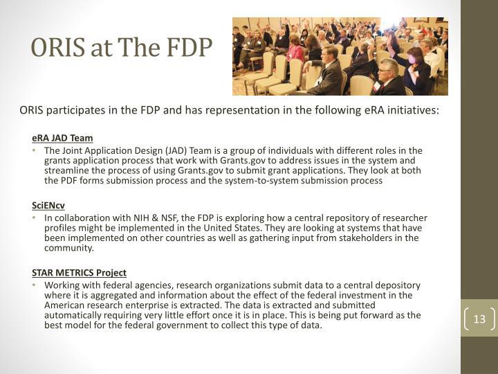 ORIS at The FDP