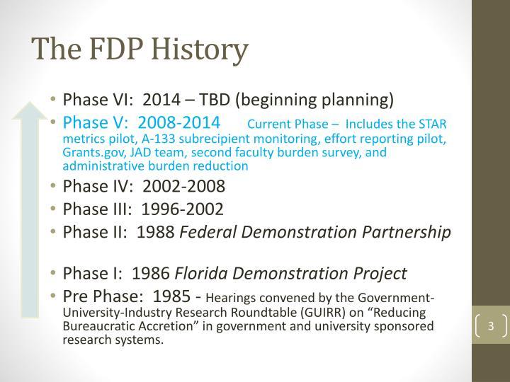 The FDP History