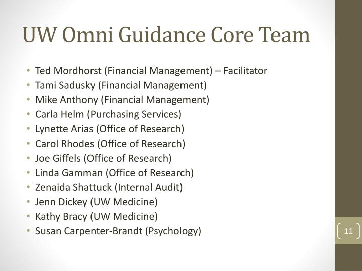 UW Omni Guidance Core Team
