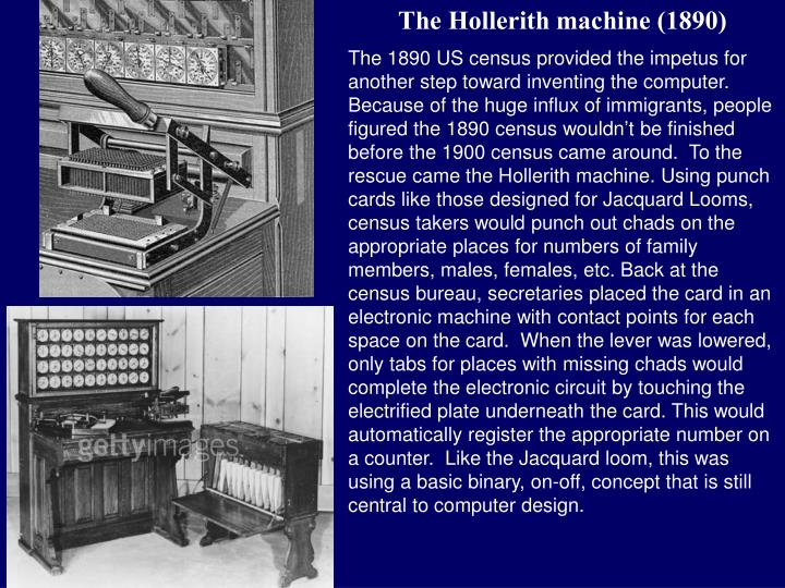 The Hollerith machine (1890)