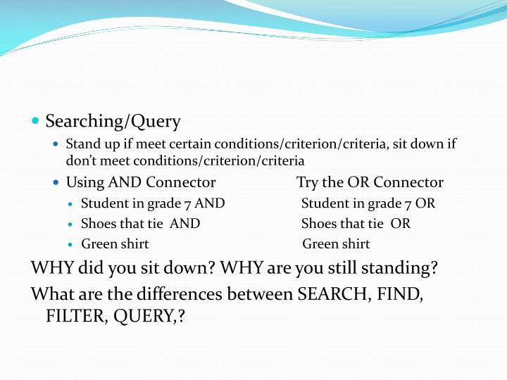 Searching/Query
