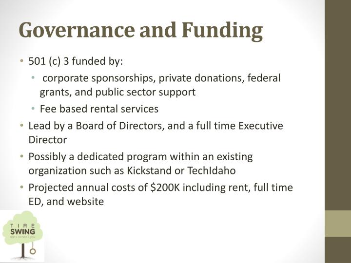 Governance and Funding