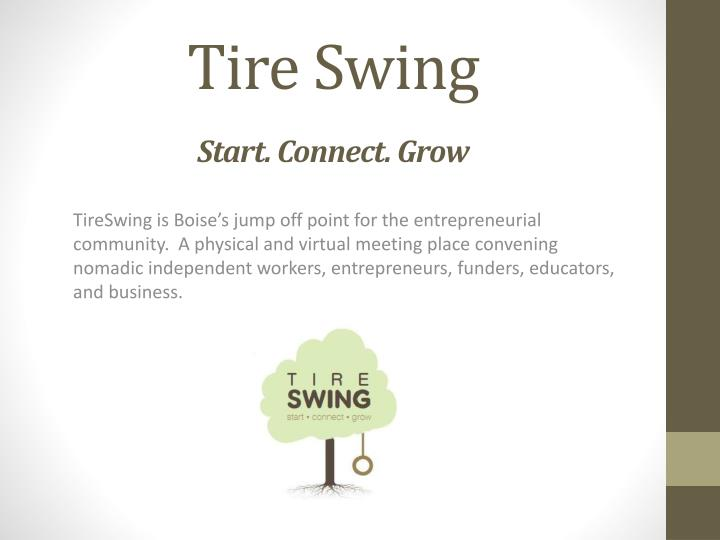 Tire swing start connect grow