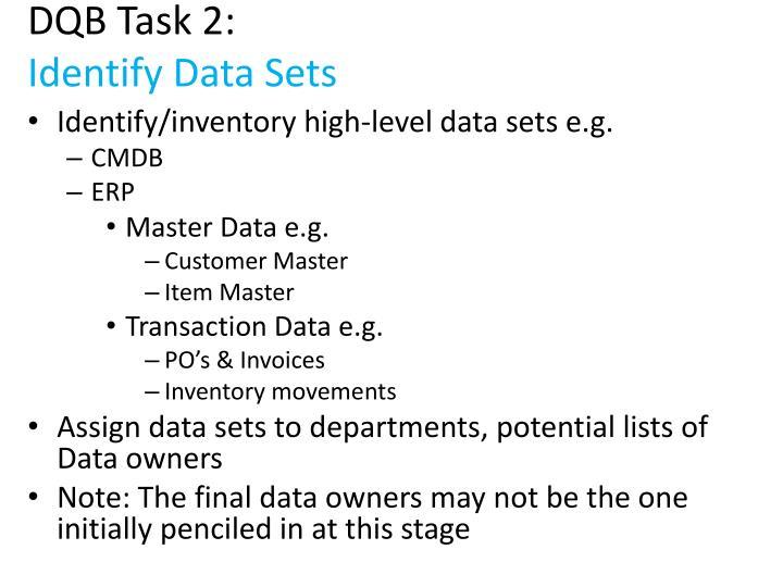 DQB Task 2: