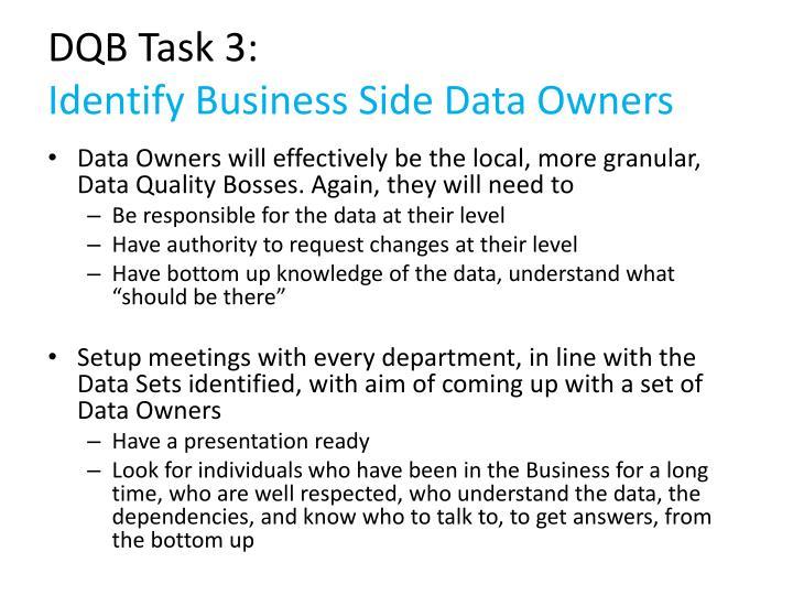 DQB Task 3: