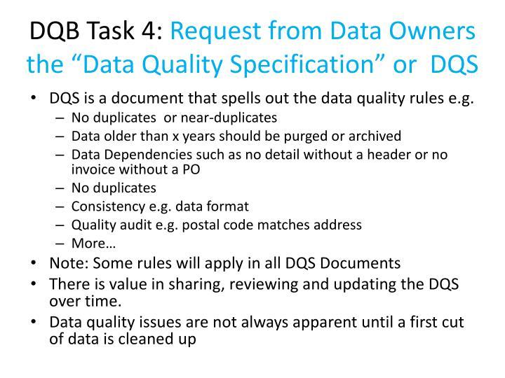 DQB Task 4: