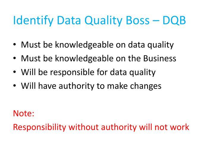 Identify Data