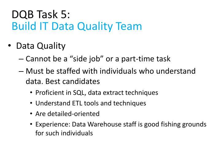 DQB Task 5: