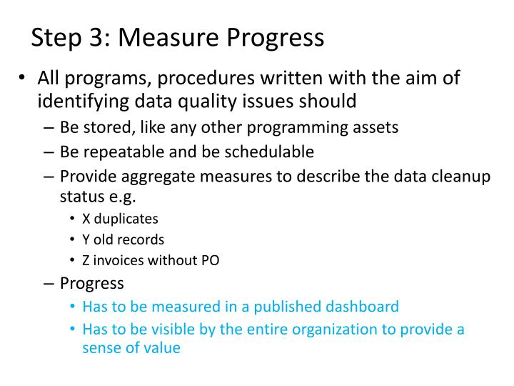 Step 3: Measure Progress