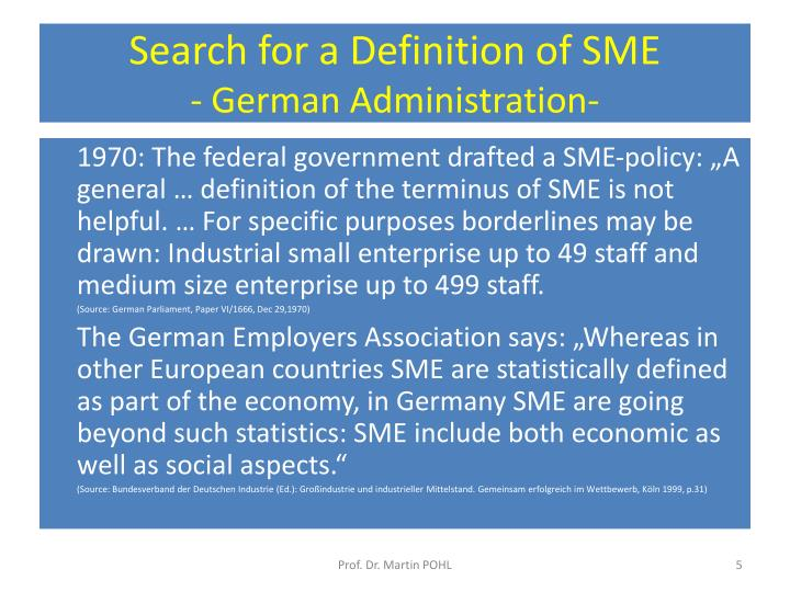 PPT - SME as a Success Story in Germany and Japan ...