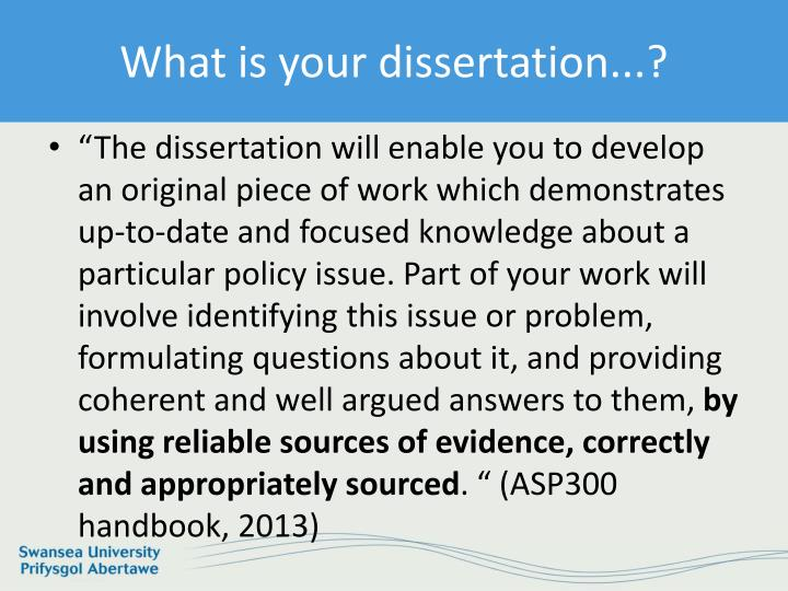 What is your dissertation