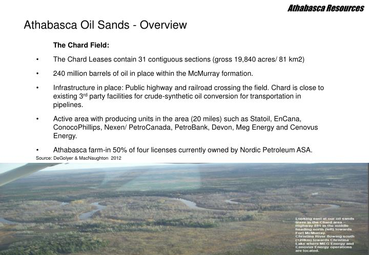 Athabasca oil sands overview