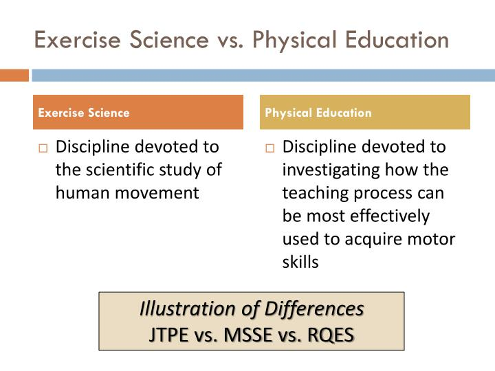 Exercise Science vs. Physical Education