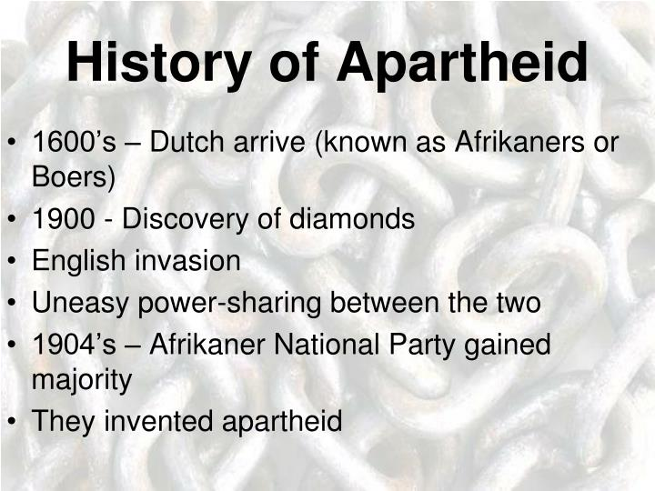 History of Apartheid