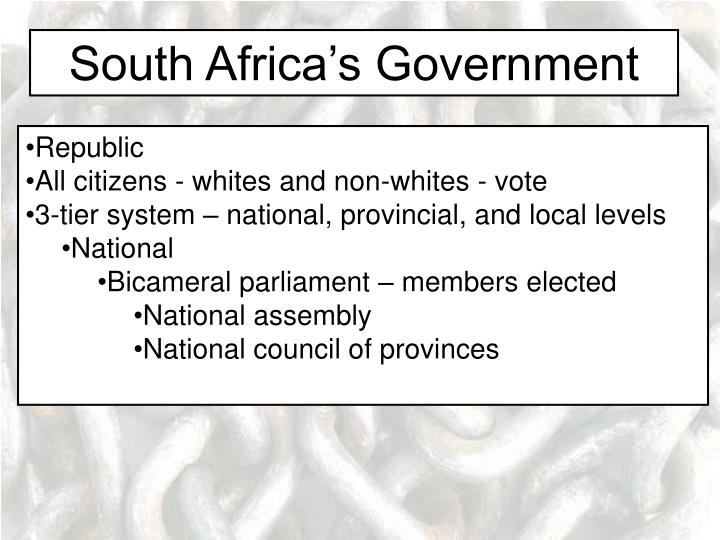 South Africa's Government