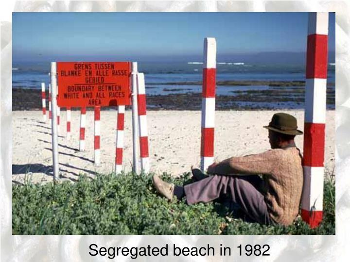 Segregated beach in 1982
