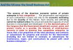 and the us one the small business act