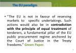 the eu paradigm
