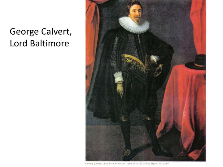 George Calvert,