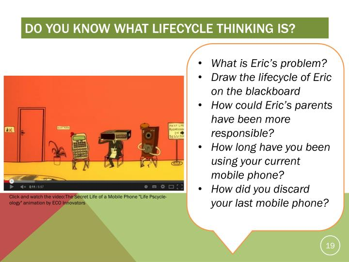 Do you know what Lifecycle thinking is?
