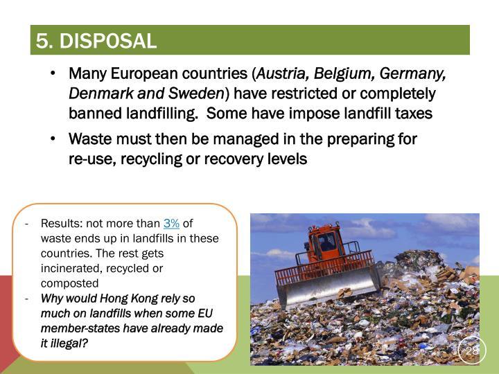 5. disposal