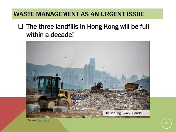 Waste management as an urgent issue