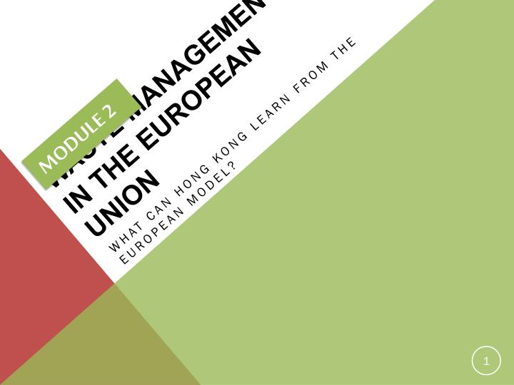 Waste management in the european union