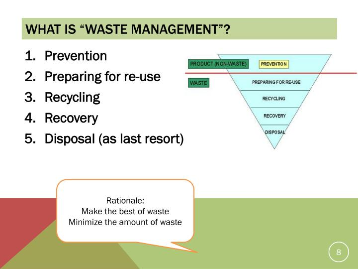 "What is ""waste management""?"