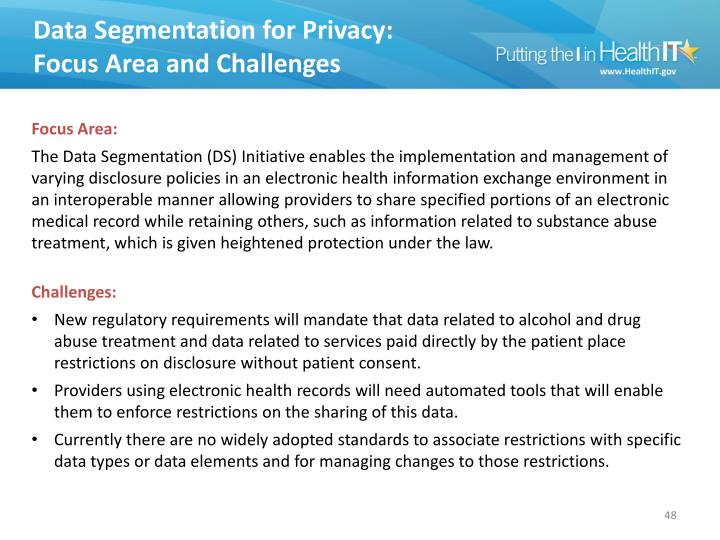 Data Segmentation for Privacy: