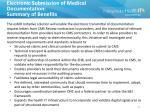 electronic submission of medical documentation summary of benefits