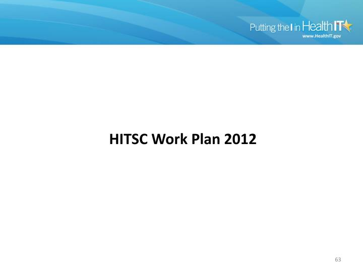 HITSC Work Plan 2012