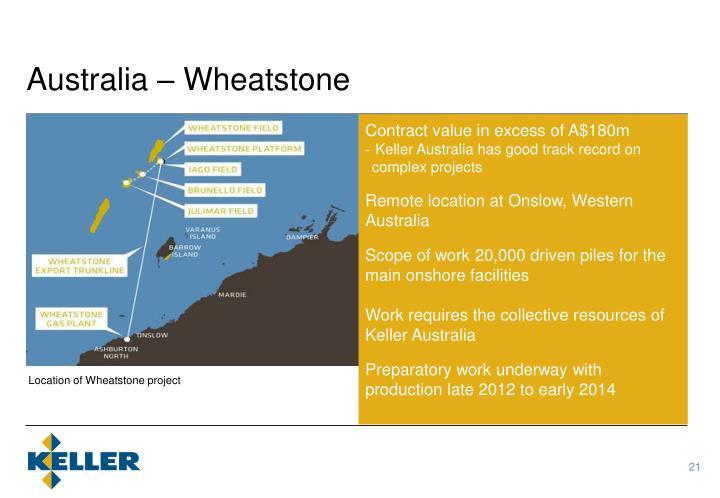 Australia – Wheatstone