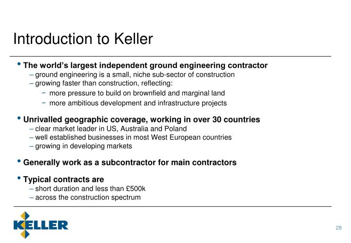 Introduction to Keller