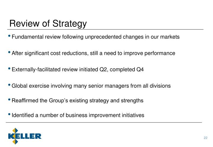 Review of Strategy