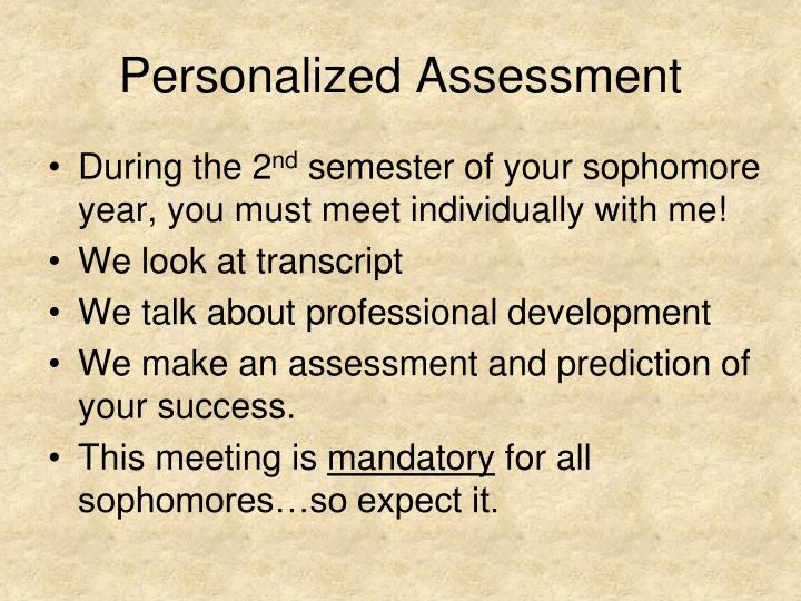 Personalized Assessment