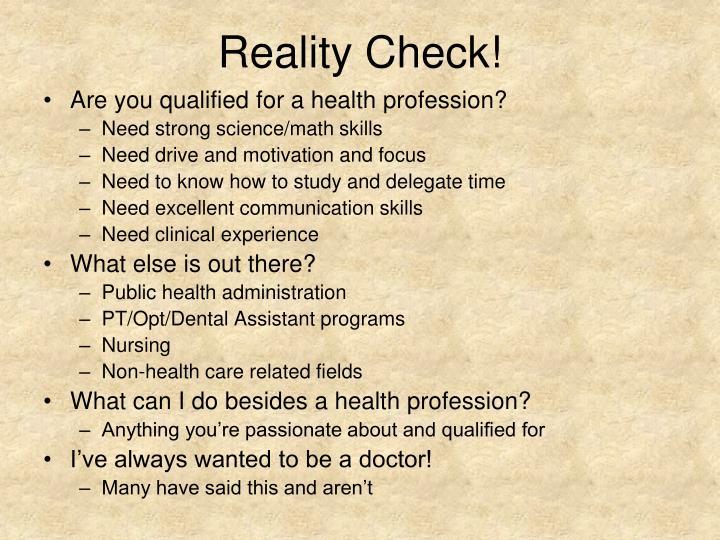 Reality Check!