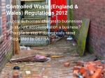 controlled waste england wales regulations 2012