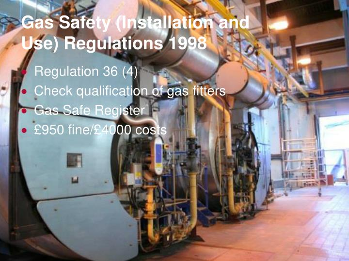 Gas Safety (Installation and Use) Regulations 1998