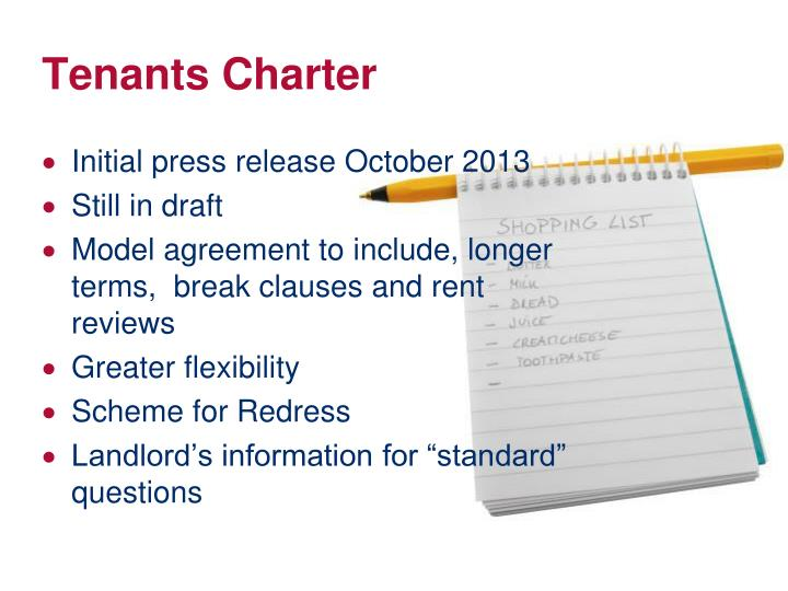 Tenants Charter