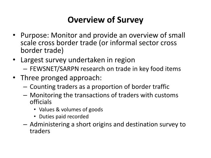 Overview of survey