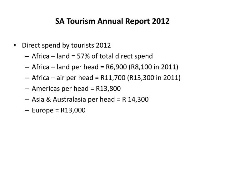 SA Tourism Annual Report 2012