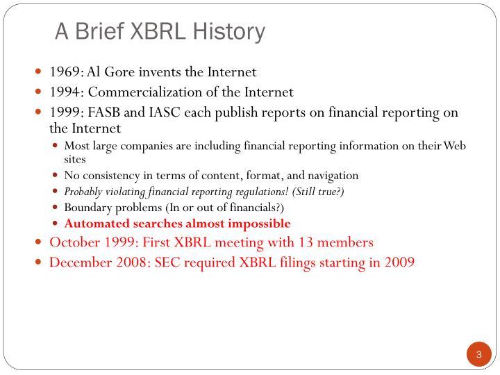 A Brief XBRL History