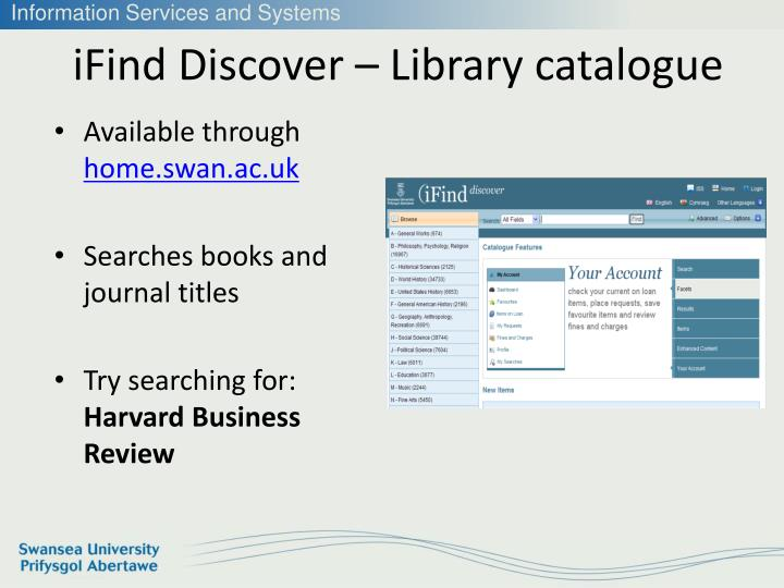 iFind Discover – Library catalogue