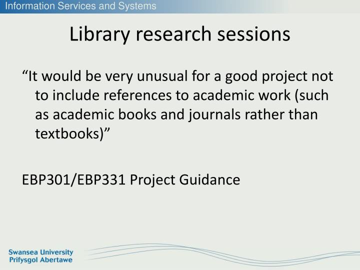 Library research sessions1