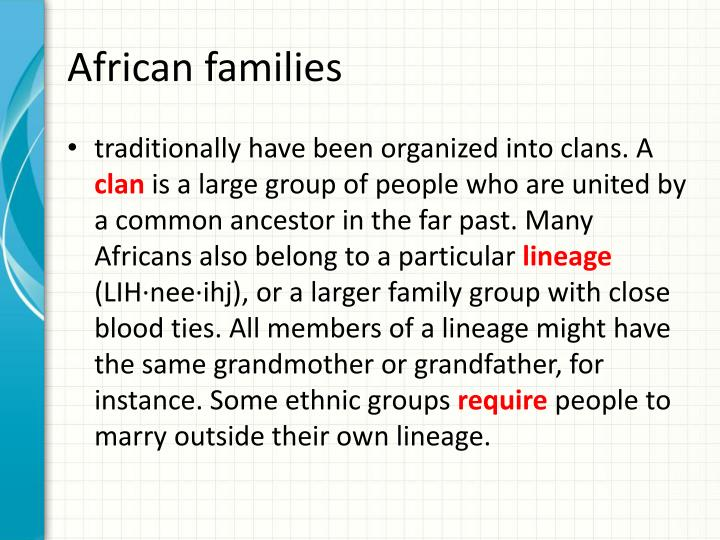 African families