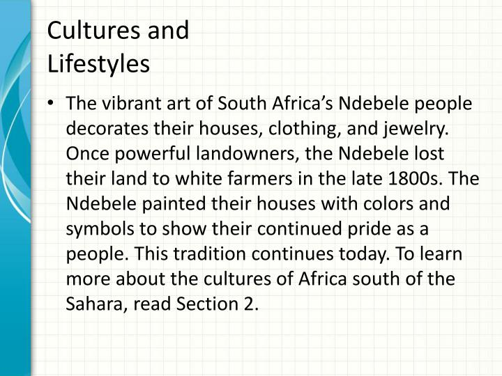 Cultures and