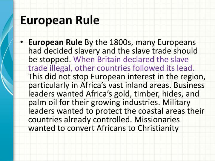 European Rule