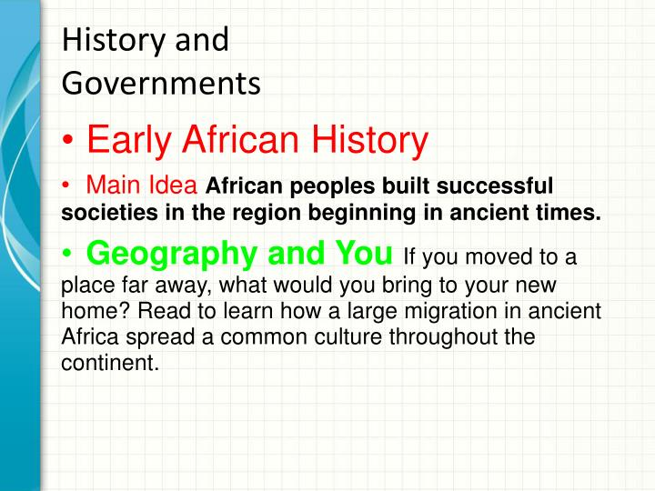 History and